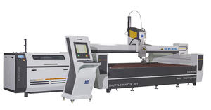 45 Degrees CNC Water Jet Cutting Machine