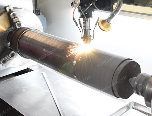 Laser high speed cladding for hydraulic cylinder