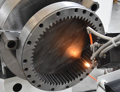 Laser quenching of gear ring
