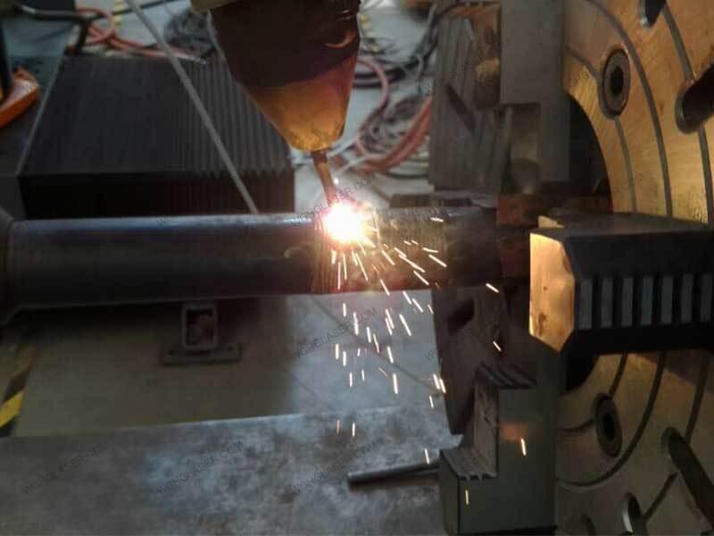 Laser cladding for gate valve stem