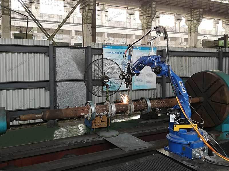 Laser cladding for furnace bottom roller