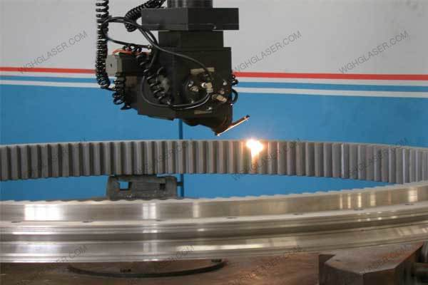 Laser quenching for large gear