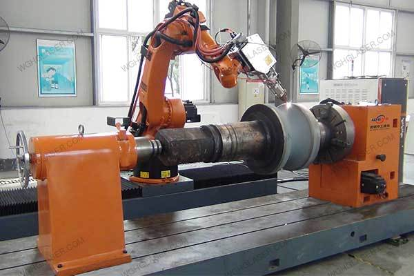 Laser alloying for steel tube roll