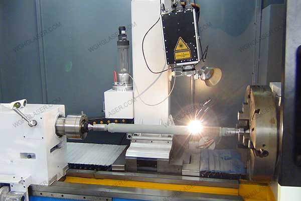 Laser alloying for piston rod