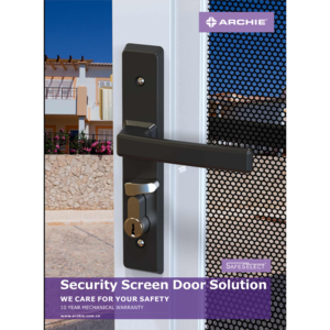 Australia Hinge Security Door Locks, Archie Door Lock