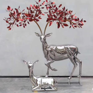 Stainless Steel Deer Sculpture
