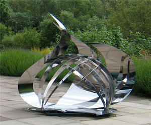 Custom Stainless Steel Garden Sculptures factory manufacturer