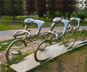 Metal Bicycle Sculpture