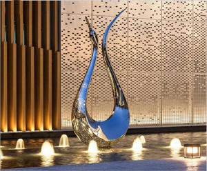 Customized Stainless Steel Statues For Hotel Decoration Manufacturer