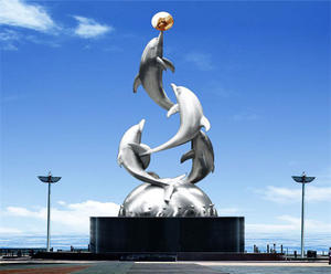 Customized Metal Dolphin Sculpture Suppliers, Factory and Manufacturers