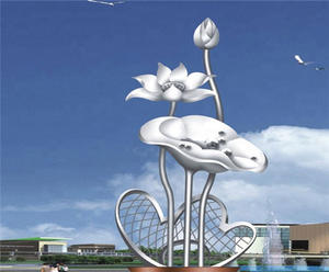 Outdoor Metal Flower Sculptures Suppliers, Factory and Manufacturers