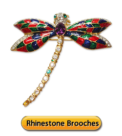 Rhinestone Brooches