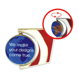 Badge factory design your custom pins to spinning pins.