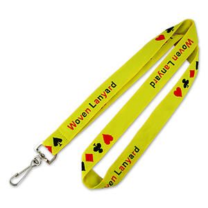Woven Logo Lanyards Custom with Simple Lanyard Designs