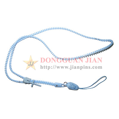 blue zipper lanyards