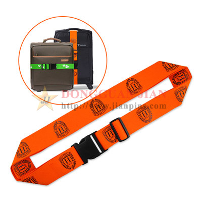 custom orange luggage belt