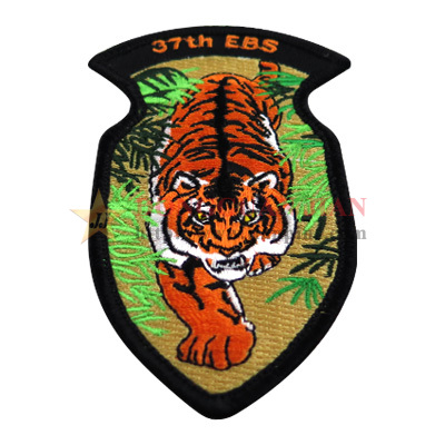 custom tiger embroidered patches