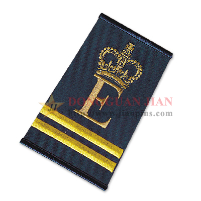 personalised embroidered epaulet