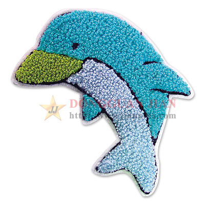 dolphin chenille patches