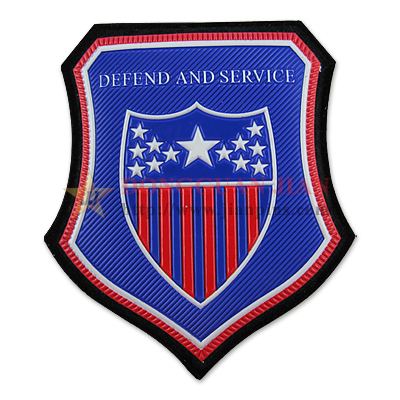 Embossed PVC USA Flag Patch