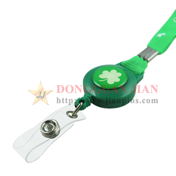 lanyard with badge reel