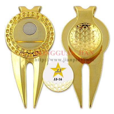 Custom Divot Tool With Shiny Plating