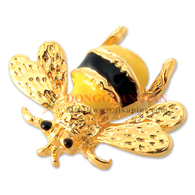 Broche d'abeille 3D