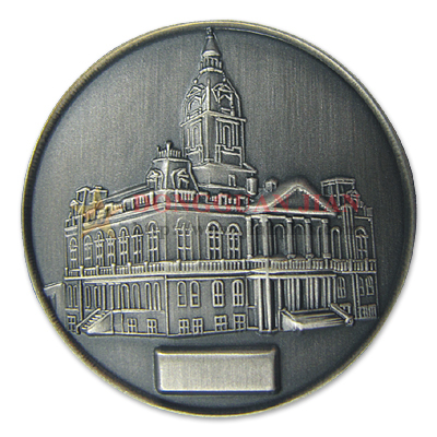 Antique Plated Zinc Alloy Coin