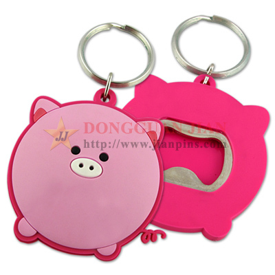 Soft PVC Bottle Opener Keychain