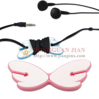 Soft PVC Earphones Cable Winder