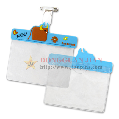 PVC Name Card Holder with Metal Pin