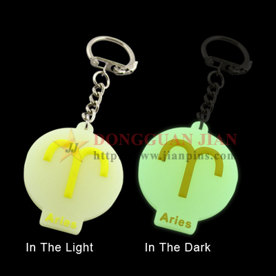 Luminous Soft PVC Keychains