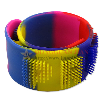 Silicone Slap Bracelet with Bristles