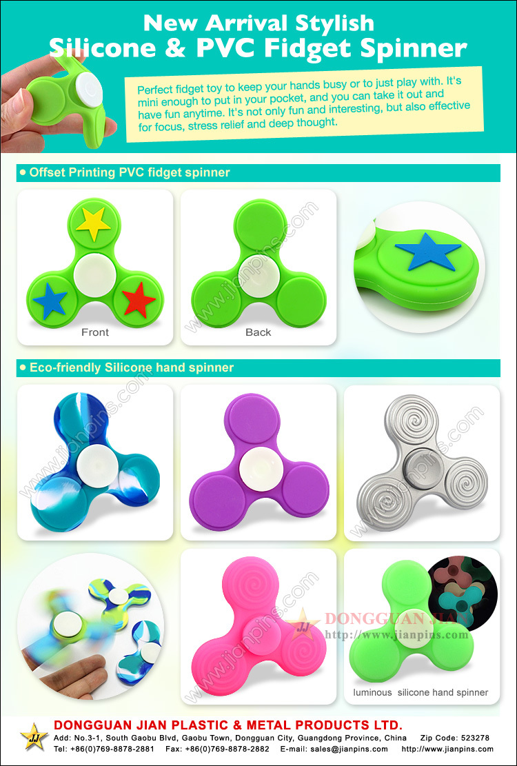 Eco-friendly fidget Spinner Spielzeug in Silikon & Gummi