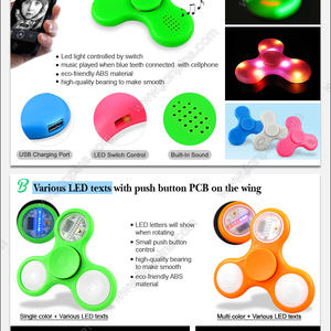 New function Led fidget spinner with blue-tooth speaker