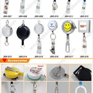 Various Stock Designs of Fancy Retractable Badge Reel From JIAN