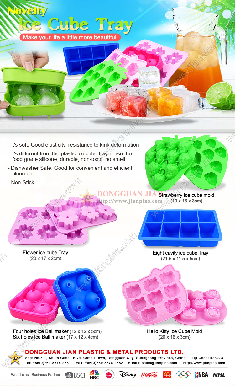 Eco-friendly silicone Ice Cube Trays