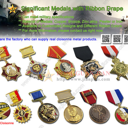 Significant Medals with Ribbon Drape From JIAN