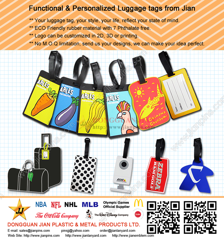 Non-Toxic Functional PVC Luggage Tags with Best Price