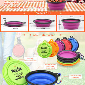 Collapsible Silicone Dog Bowls at factory price for sale