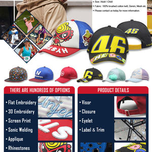 Custom baseball hats with NO MOQ limitation and quick turnaround time