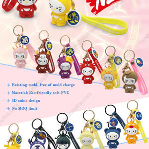 New Style Constellation Rubber Keychain Set Free of Mold Charge from JIAN