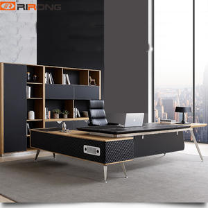Wood leather Office Executive table