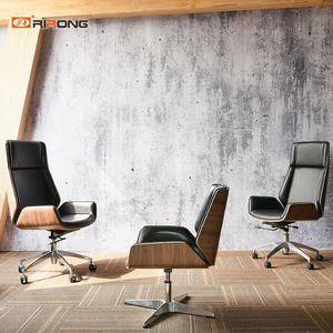 Walnut Leather mesh fabric office chair