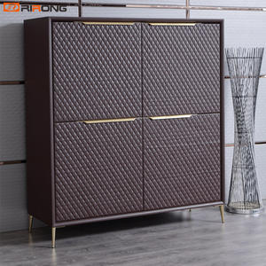 Brown Leather Luxury Filing Cabinet