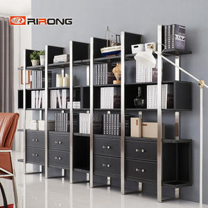 Modern Black Wood Office Cabinet Office Shelving