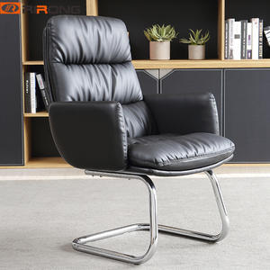 Black Coloful Steel Leather Conference Meeting Chair Office Visitor chair