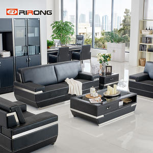 8072 Black Office Sofa Set