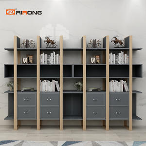 180cm Industrial Design Wooden Grey Office Storage Cabinets