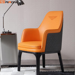 orange Home Office Leather luxury office chair